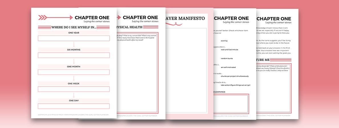 Time to slay your goals with The Goal-Getter Playbook! #prettyprintables #plannernerd #planneraddict