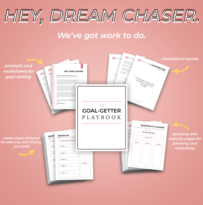 The Goal-Getter Playbook is your one-stop shop for goal-setting and slaying.