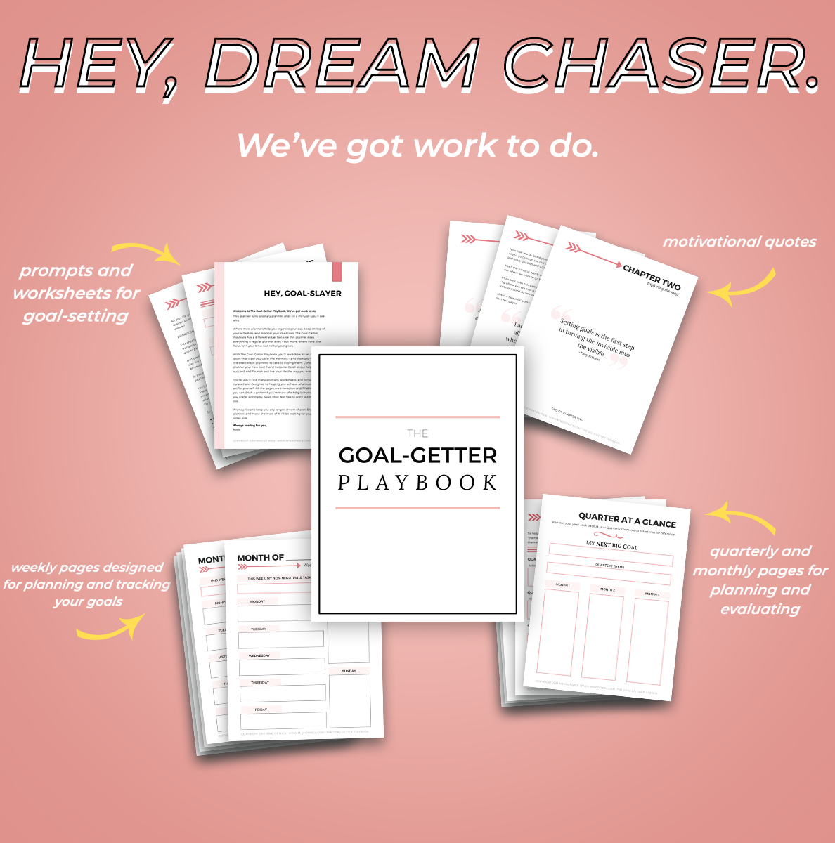 The Goal-Getter Playbook is a beautiful and fun way to set goals so that you actually achieve them.