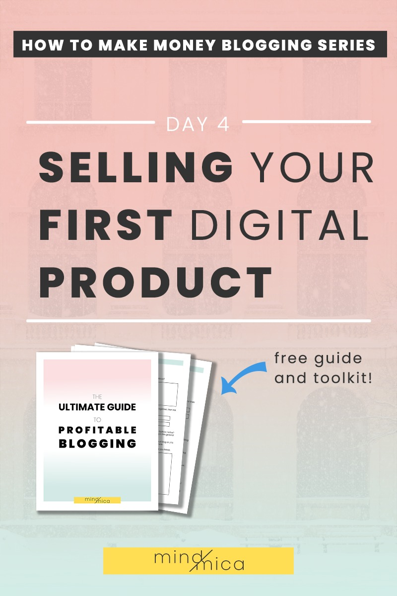 If you've always wanted to know how to sell digital products or services on your blog, then read on. You can see how to make money blogging with this creative project. Plus, digital products are a great way to earn passive income by blogging!