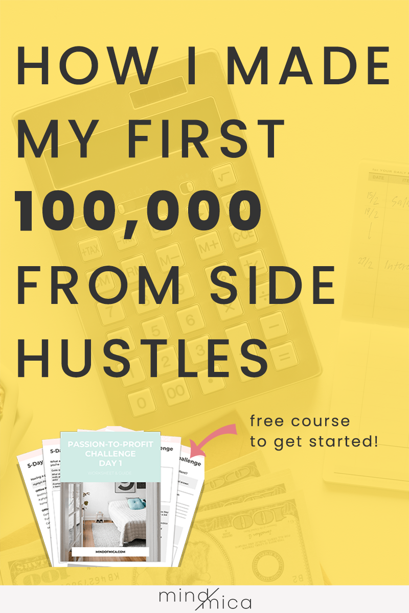 Here's the scoop on how I made my first 100K through side hustles alone. Learn how I earned this money by starting a freelance writing business and many more.