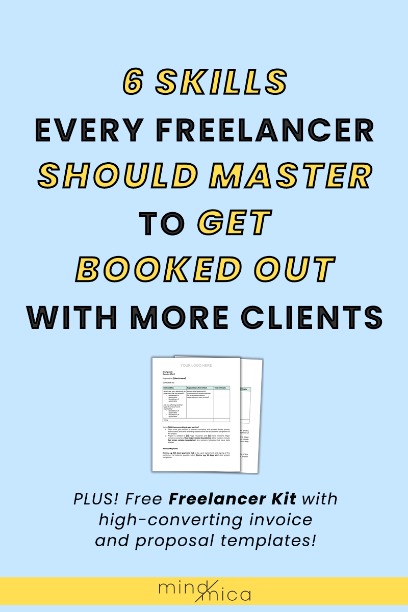 Here are 6 skills freelancers should master to get more clients and be booked out. These include skills like decision management, collaborative work, and new media literacy. Click here to read the whole post and get actionable tips to get better at these tips.