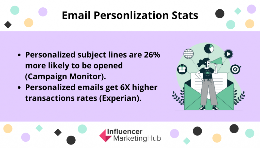 Personalization is a great best practice if you're looking into email marketing for content creators.